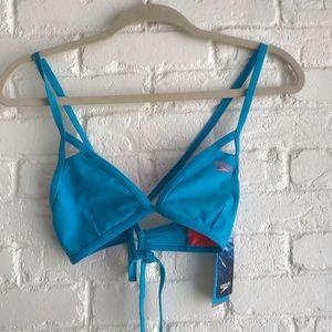 Speedo turquoise bikini swim top NEW medium